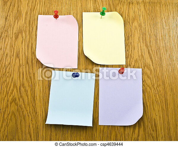 Blank tags on wooden background  - csp4639444