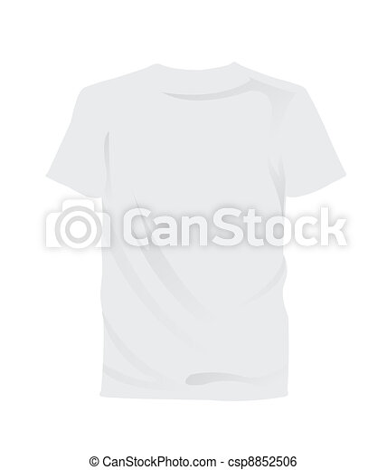 Blank Tee Shirt Isolated Illustration Of White T Shirt Useful For