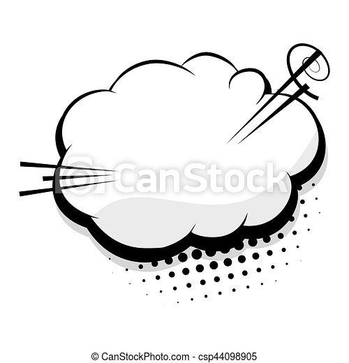 Blank template comic speech cloud bubble - csp44098905