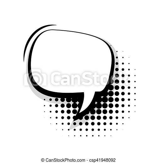 blank template comic speech oval simple bubble halftone dot