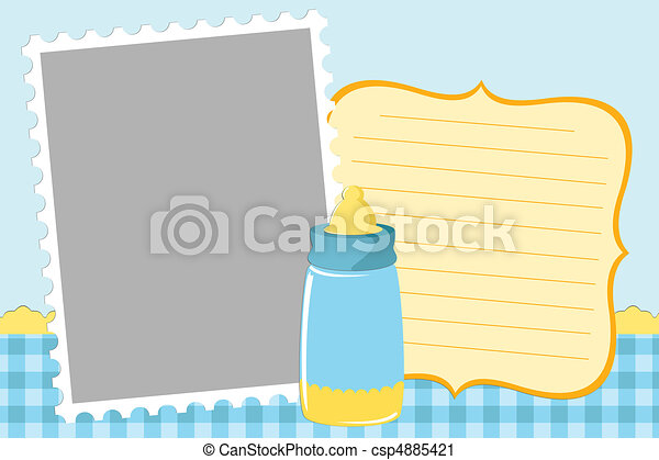 Blank template for greetings card - csp4885421