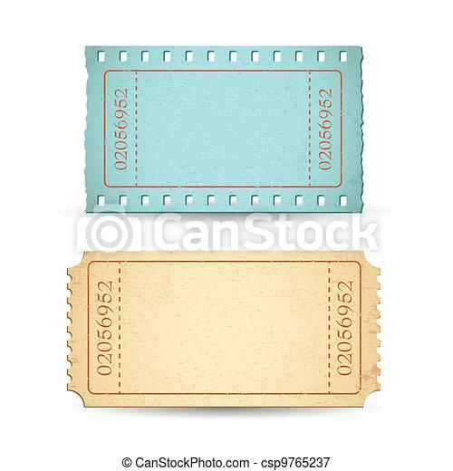 Blank Ticket - csp9765237