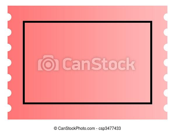 Blank Ticket Template Stock Illustration  Blank Ticket