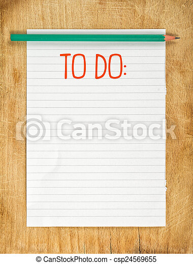 Blank To Do List - csp24569655