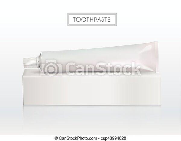 Blank toothpaste tube - csp43994828