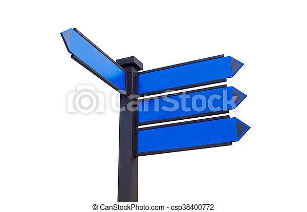 blank traffic sign for text message - csp38400772