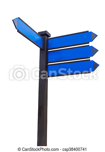 blank traffic sign for text message - csp38400741