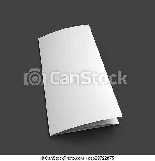 Blank Trifold Paper Brochure Mockup Template Vector Illustration Eps10