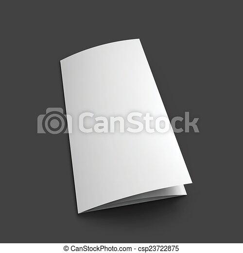 Blank Trifold Paper Brochure Mockup Template Vector Illustration Eps10