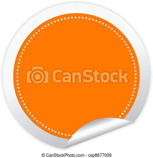 Blank vector sticker  - csp8677009