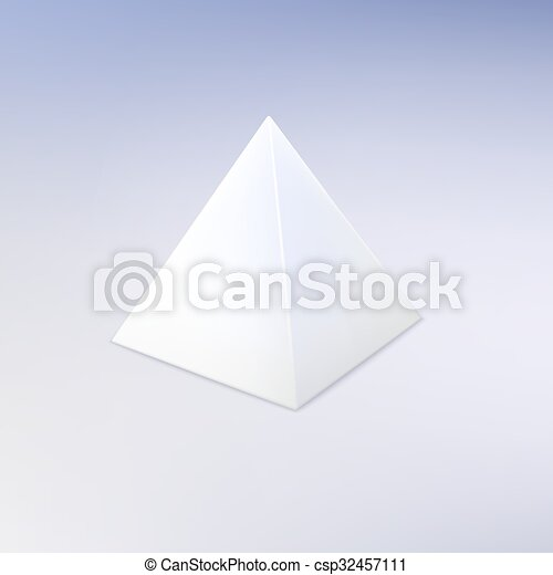 Blank Vector White Pyramid Template For Your Design Vector Clip