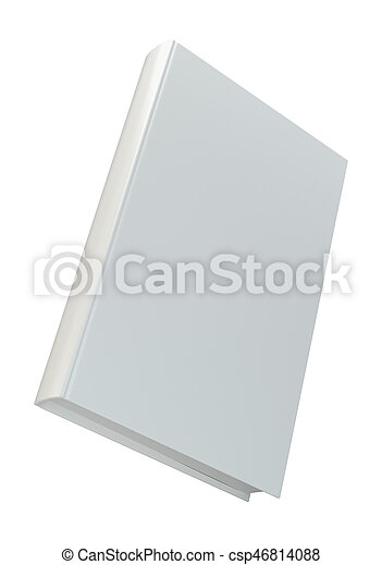 Blank vertical book cover template front side standing. perspective ...