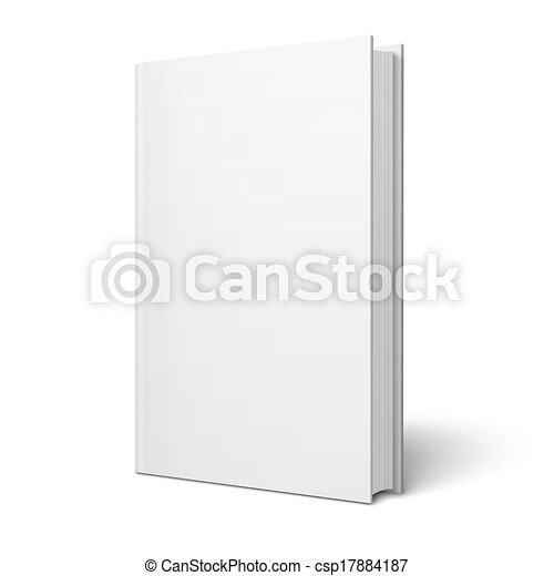 Blank vertical book template. Blank vertical book cover template ...