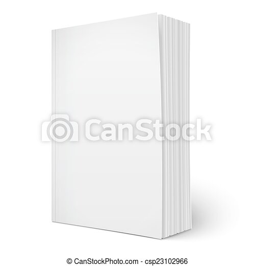 Blank vertical softcover book template with pages. Blank vertical ...