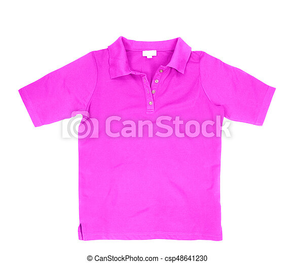 Blank violet shirt isolated on white background - csp48641230