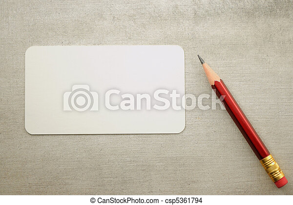 Blank visit card with pencil - csp5361794