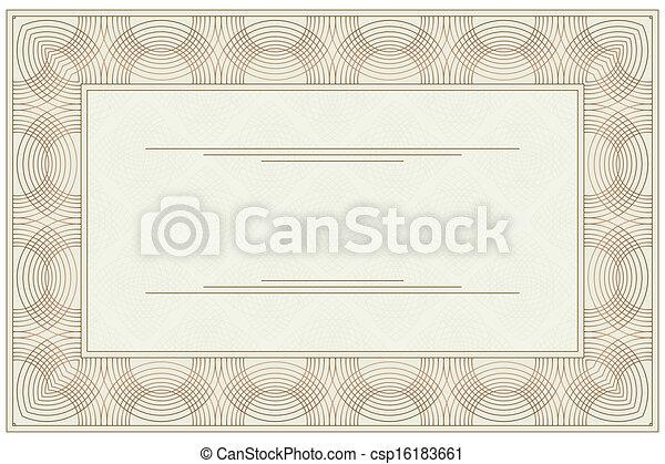 Clip Art Vector of Blank voucher Empty blank of the certificate – Blank Voucher