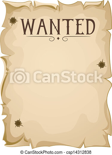 Blank Wanted Poster - csp14312838