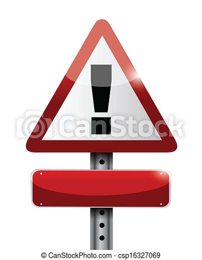 blank warning road sign illustration design - csp16327069