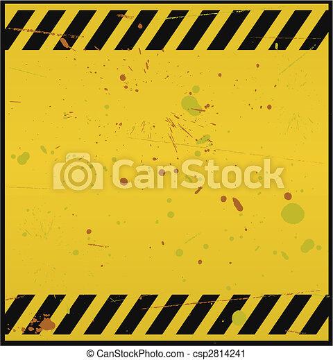Blank Warning Sign - csp2814241