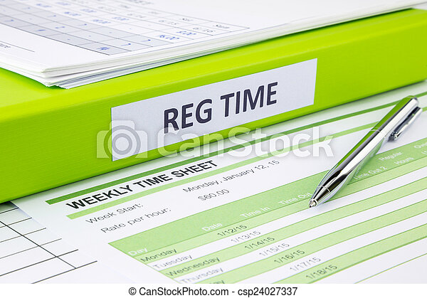 blank weekly time sheets for recording regular time word on green