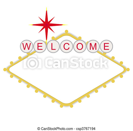 Blank welcome to Las Vegas sign - csp3767194