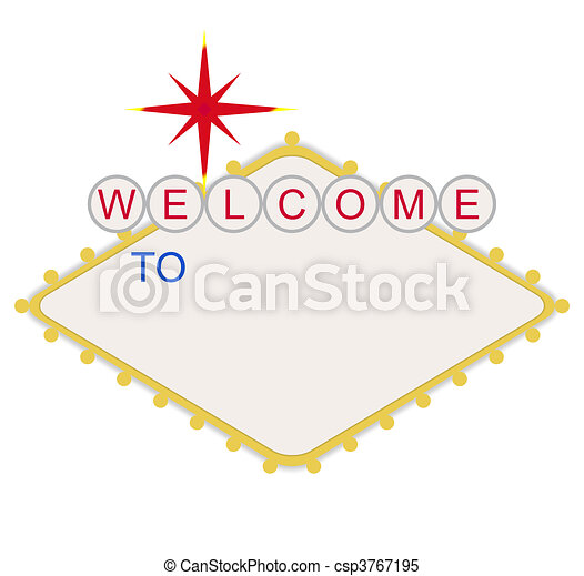 Blank welcome to Las Vegas sign - csp3767195