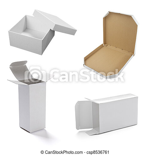 blank white box container - csp8536761