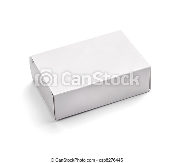 blank white box container - csp8276445