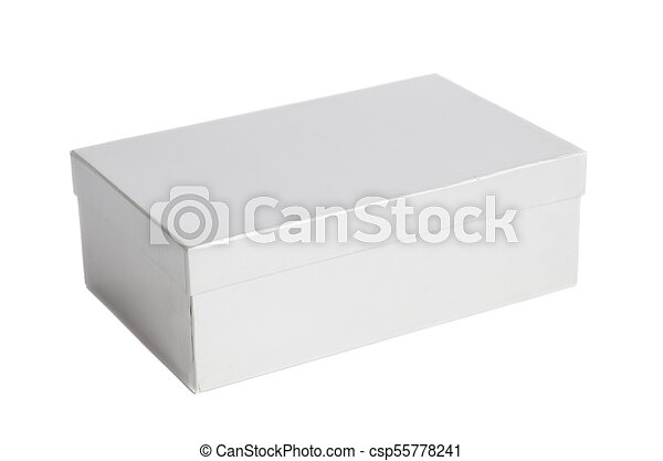 Blank white box container - csp55778241