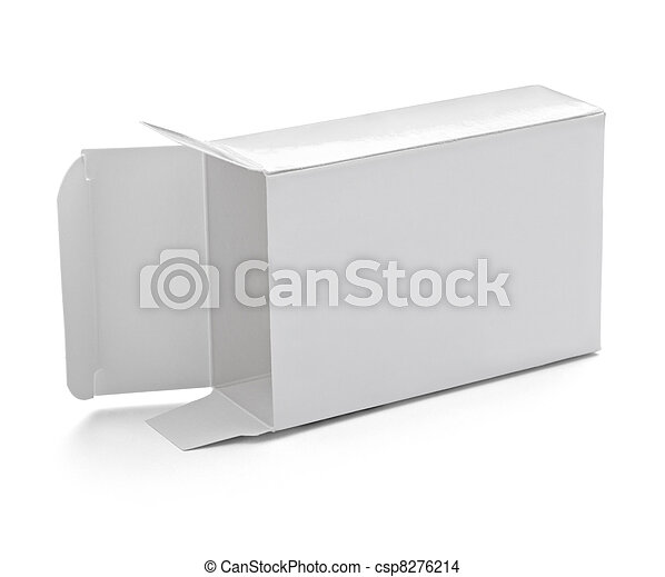 blank white box container - csp8276214