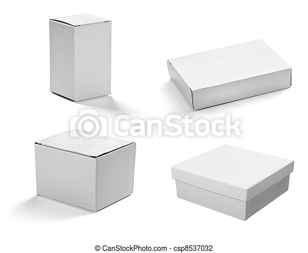 blank white box container - csp8537032