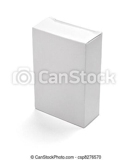 blank white box container - csp8276570