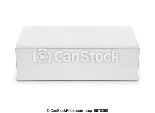 blank white box isolated over white - csp16676368