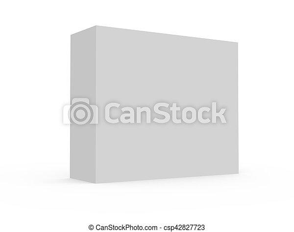 blank white box model - csp42827723