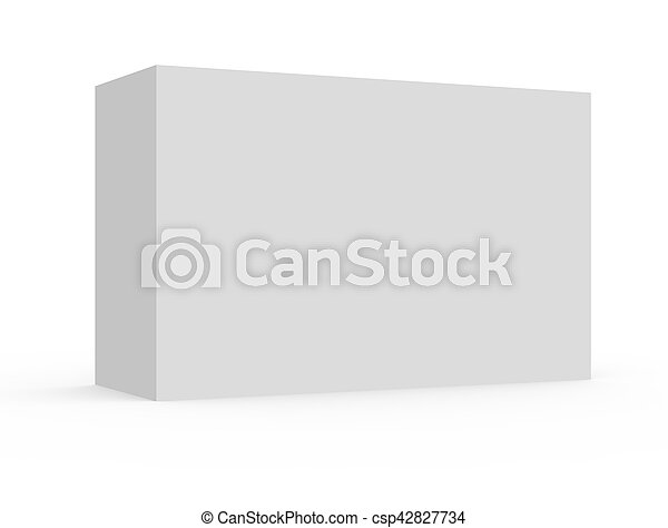 blank white box model - csp42827734