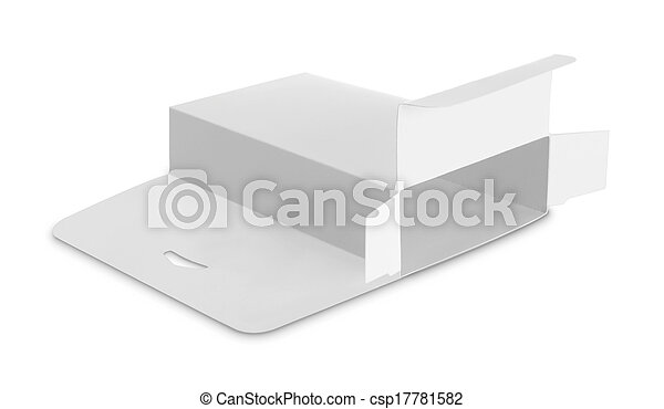 blank white box - csp17781582