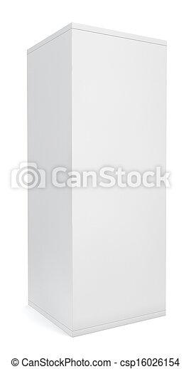 Blank white box - csp16026154
