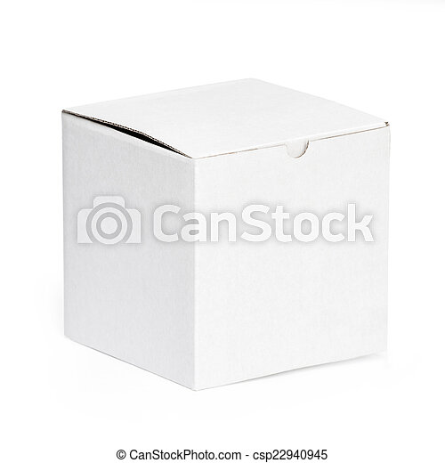 Blank white box  - csp22940945
