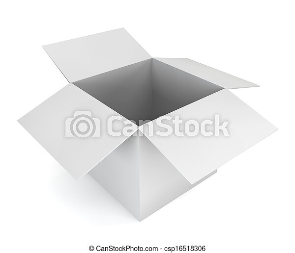 Blank white box - csp16518306