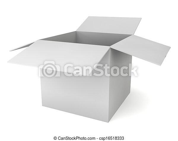 Blank white box - csp16518333