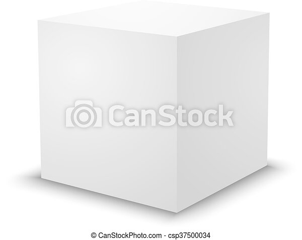 Blank White Cube 3d Box Template Blank White Cube On White
