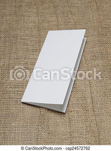 blank white folding paper flyer - csp24572762