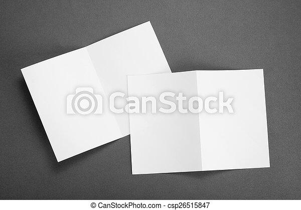 blank white folding paper flyer - csp26515847