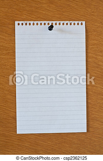 blank white page from notebook - csp2362125