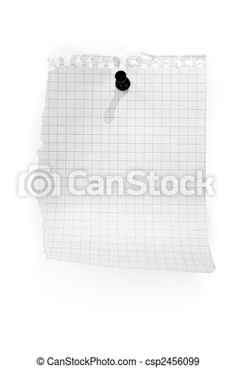 blank white page from notebook - csp2456099