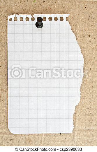 blank white page from notebook - csp2398633