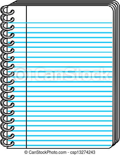 Blank white paper notebook - csp13274243