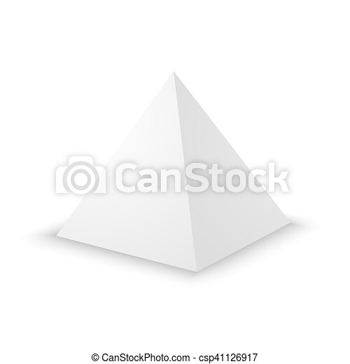 Blank White Pyramid 3d Template