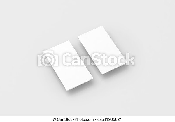 Blank white rectangles for phone display app design mockup,